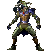 Render of Volga in his Standard Outfit (Grand Travels) from Hyrule Warriors Legends