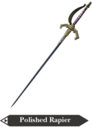 Hyrule Warriors Rapier Polished Rapier (Render)