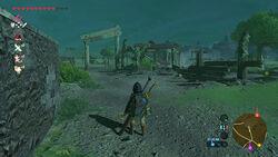 Link arrivant aux ruines du Ranch