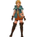 Hyrule Warriors Legends Linkle Standard Outfit (Great Sea - Aryll Recolor)