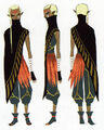Skyward Sword Artwork Impa Black Cloack (Concept Art)