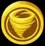 Artwork Piedra de la Suerte dorado