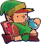Link Drinking Life Potion