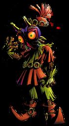 Artwork of the Skull Kid wearing Majora's Mask