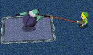 Snapper tirando de Link