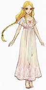 Hyrule Warriors Artwork Princess Zelda Nightgown (Concept Art)