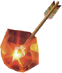 Artwork of a Fire Arrow from Ocarina of Time