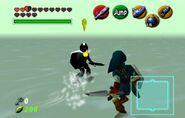 Link vs Link Oscuro en ocarina of time