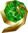 The Kokiri's Emerald as it appears in-game