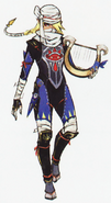 Hyrule Warriors Artwork Sheik (Concept Art)