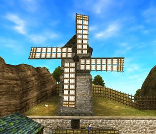 OoT3D Kakariko Windmill.png