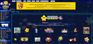 The current layout of The Legendary Starfy Wiki (as of January 21, 2012)