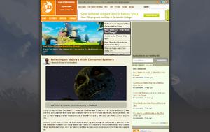 Screenshot of the ZI homepage