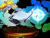 SSBM Zelda (Smash) Trophy Blue Model.png