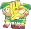 TLoZ Links Holding Famicom Disk Artwork.png