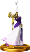 SSBfWU Zelda (Alt.) Trophy Model.png
