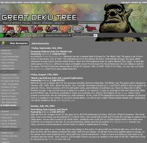 Primitive version of a Greak Deku Tree layout