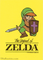 TLoZ Nintendo Game Pack Link Kneeling and Logo Sticker.png