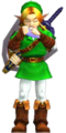 OoT3D Link Playing Ocarina of Time Render.png