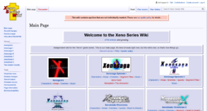 Xeno Series Wiki's current layout