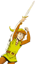 Link in the Legend of Zelda comic by Valiant Comics