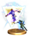 SSBB Triforce Slash (Link) Trophy Model.png