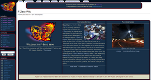 The current layout of F-Zero Wiki (as of March 17, 2012)