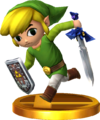 SSBfN3DS Toon Link Trophy Model.png