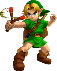Young Link in Ocarina of Time 3D