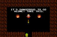 A screenshot of a classic moment in The Legend of Zelda