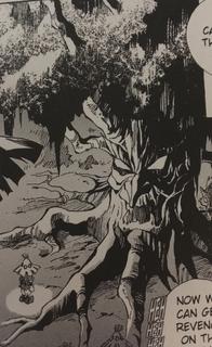 OoT Manga Skull Kid and Baga Tree.png