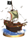 SSBB Pirate Ship Trophy Model.png
