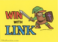TLoZ Nintendo Game Pack WIN WITH LINK Sticker.png