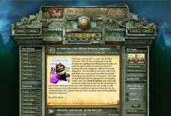 Screenshot of the ZU homepage