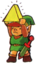 TLoZ Link Holding the Triforce of Wisdom Artwork.png