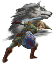TPHD Link and Wolf Link Artwork.png
