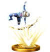 SSBfWU Light Arrow (Sheik) Trophy Model.png