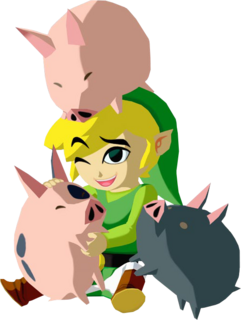 TWW Link and Pigs Concept Render.png