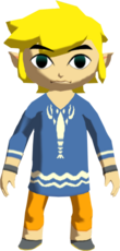 Link wears his starting outfit for the entirety of the Second Quest.