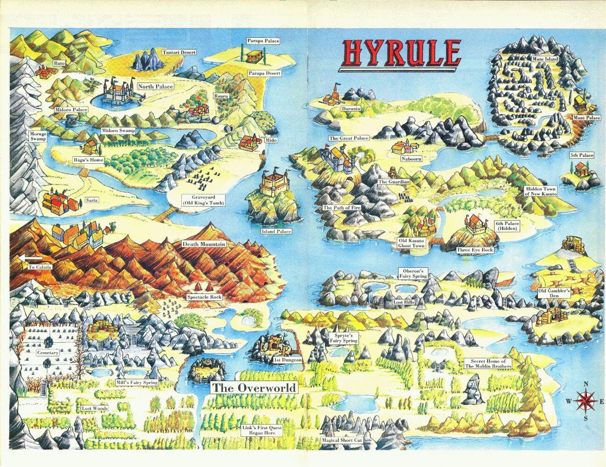 Map Of Hyrule Zelda Wiki