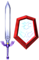 SCII Master Sword and Mirror Shield Model.png