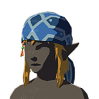 BotW Climber's Bandanna Blue Icon.png