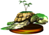 SSBM Turtle Trophy Model.png