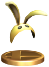SSBB Bunny Hood Trophy Model.png