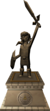 The statue of the Hero of Time found in Hyrule Castle in the Adult Timeline