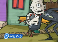 Moofy and News reporter