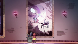S2E23 Star Butterfly looks at Moon's tapestry