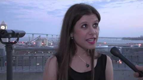 Romina Russell (author of Zodiac) at San Diego Comic Con 2014