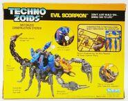 Techno Zoids Evil Scorpion box back