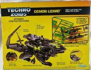 Techno Zoids Demon Lizard box back